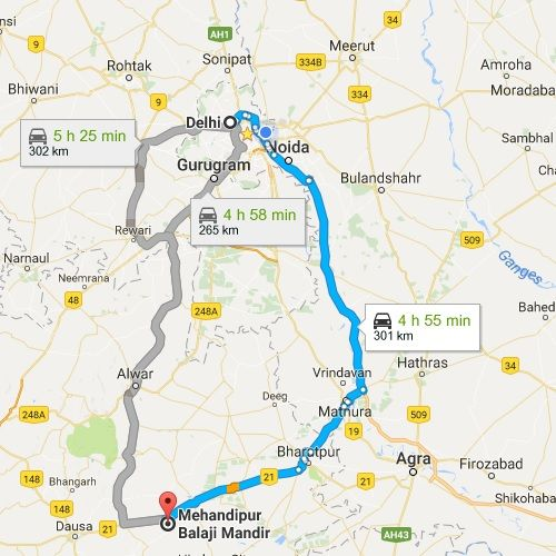 Delhi Sightseeing Tour Map