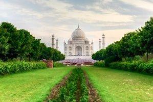 Taj Mahal with Golden triangle