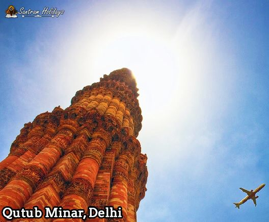 Qutub Minar with Golden triangle