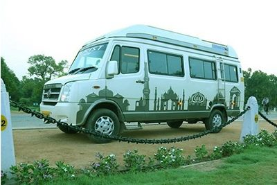 tempo traveller outer view